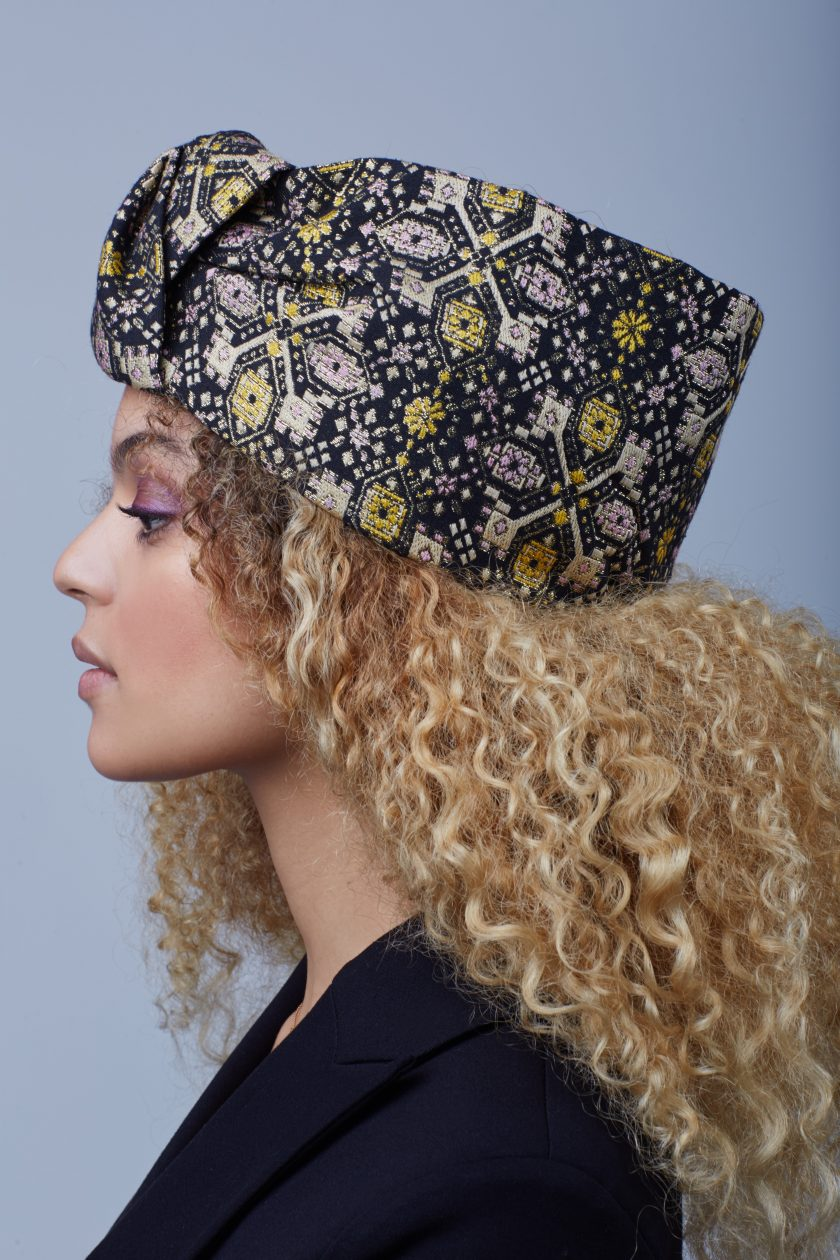 GLAMOROUS BROCADE Fashion Turban Head Wrap