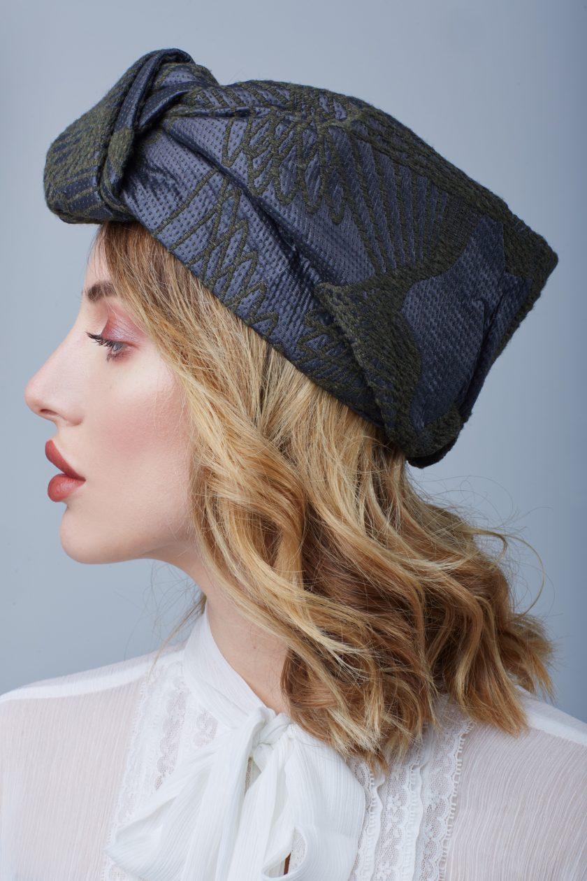 SOPHISTICATED JACQUARD OPEN turban head wrap