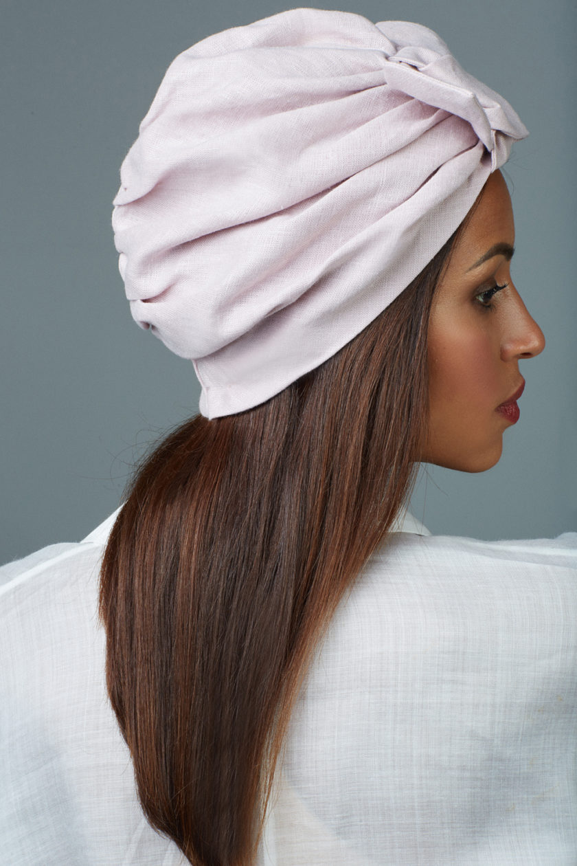 ASHY ROSE BOW TURBAN (2 in 1)